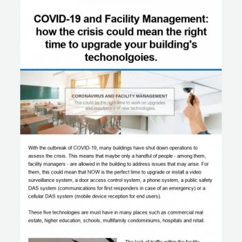 Covid-19 And Facility Management
