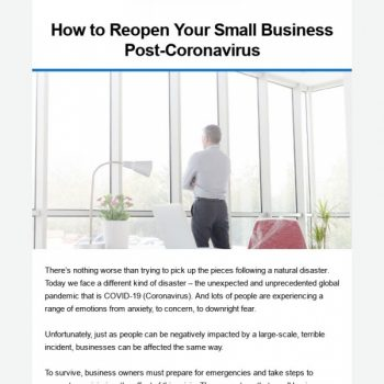 How To Reopen Your Small Business Post-coronavirus