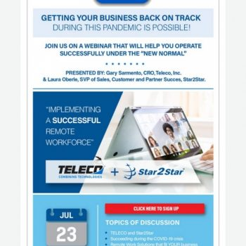 Webinar: Get Your Business Back On Track With Teleco & Star2star Remote Work Tools