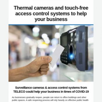 Thermal Cameras And Touch Free Access Control Systems