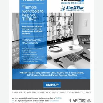 """Join """"remote Work Tools To Thrive"""" Webinar By Teleco"""