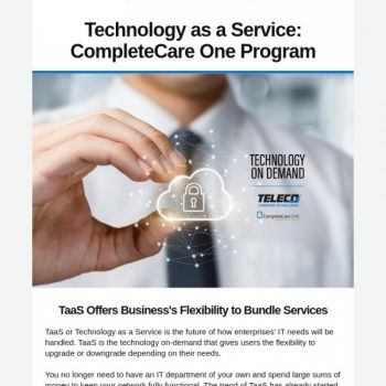 Technology As A Service: Completecare One Program From Teleco.