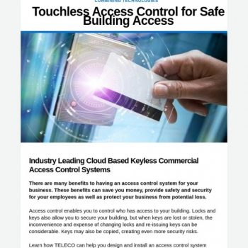 Touchless Access Control For Safe Building Access